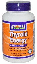 Энергия щитовидной железы, Now Foods, Thyroid Energy, 90 Veggie Caps