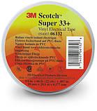 Изолента высшего класса 3M Scotch Super 33+ (19 мм x 20,1 м х 0.178 мм.), ПВХ. Всепогодная, самозатухающая.33 , фото 4