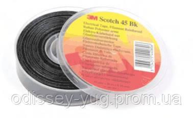 Изолента монтажная 3M Scotch 45 bk армированная стекловолокном (19 мм х 20 м х 0,2 мм).