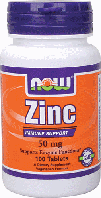 Цинк БАД, Now Foods, Zinc, 50 mg, 100 Tabs