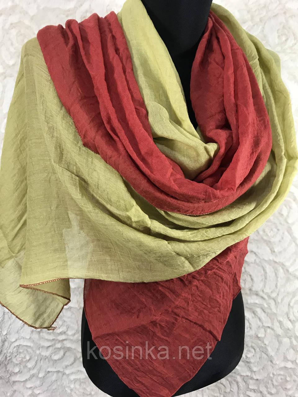 Двоколірний шарф-палантин (1)