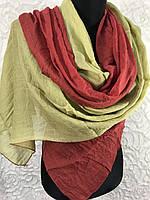 Двухцветный шарф-палантин (1)