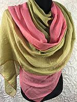 Двухцветный шарф-палантин (2)