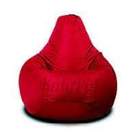 Кресло-груша Бордовое нейлон OXFORD, Размер L - 100x75