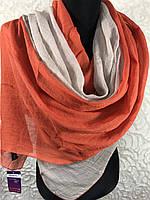 Двухцветный шарф-палантин (4)