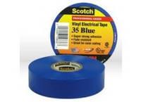 Изолента Scotch 35, 3M™, цветная, высшего класса, поливинилхлоридная ПВХ, всепогодная  Синий