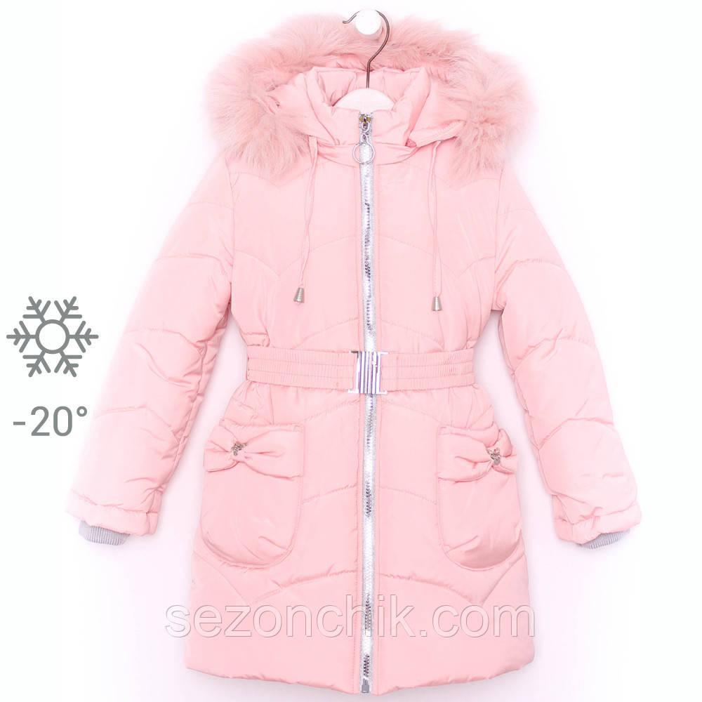 Пальто зимнее для девочки пуховик детский