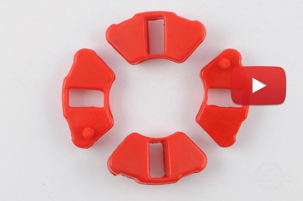 Резинка демпферная (комплект)   Delta   (красная, эластичная)   MZK, компл.