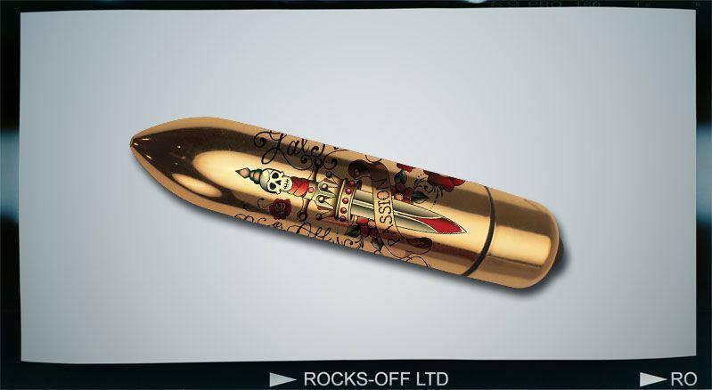 Вибратор клитора Rocks Off RO-80mm TATTOO Deadly Passion