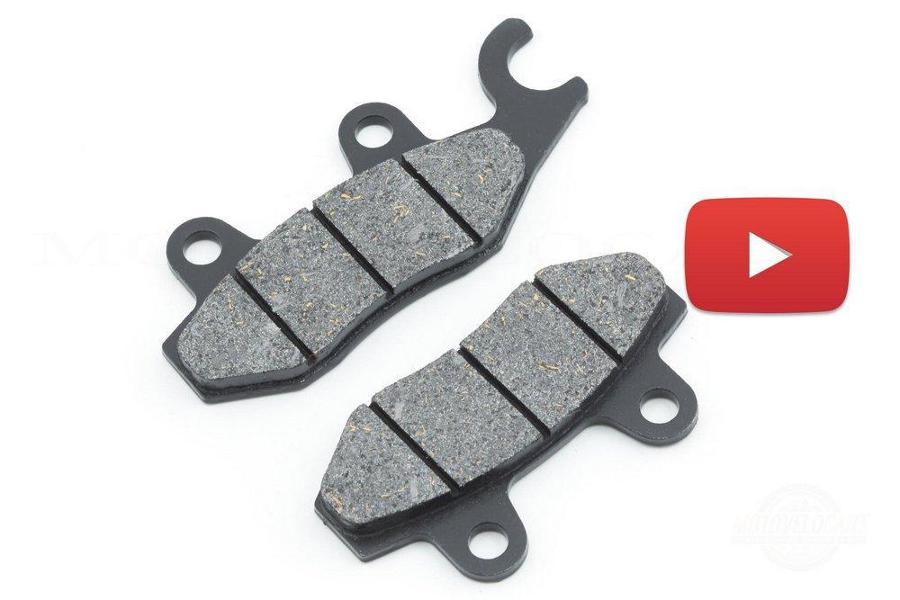 Колодки тормозные (диск)   4T GY6 50-150   (ухо вправо)   SUNY, компл.