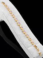 Браслет с позолотой и сиреневыми камнями Xuping Фианит 18 см. 043695