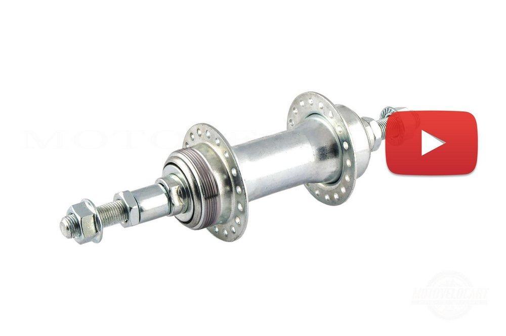 Втулка заднего колеса велосипеда  (под трещетку, в сборе) (сталь)   GL, компл.
