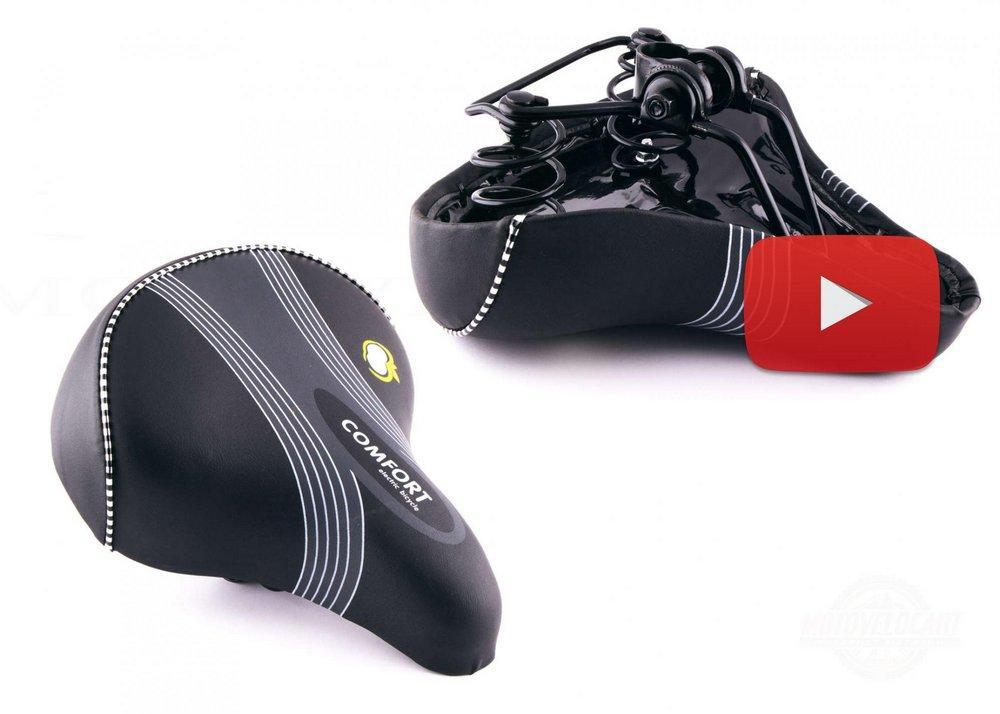 Седло велосипедное   Comfort  (металл основа) (черное)   , шт