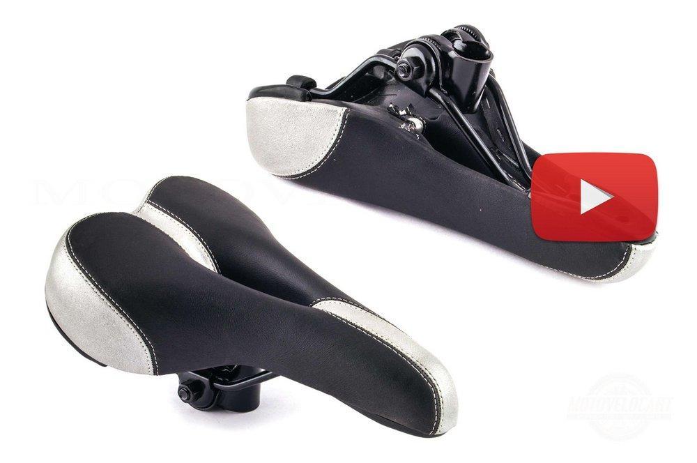 Седло велосипедное спортивное   (с дыркой) (черно-серое)   , шт