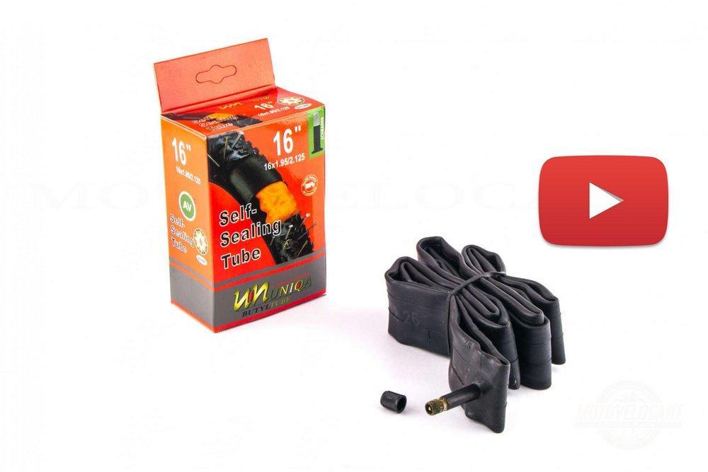 Камера (велосипедная)   16 * 1,95/2,125   (самогерметизирующаяся)   UNIQA   (#BDRK), шт