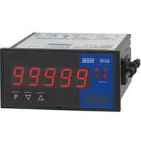 Цифровой индикатор для установки в панель, размеры 96 x 48 мм, 5-разрядный, вход мультифункциональный или двойной (для стандартных сигналов) с