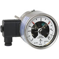Манометрический термометр с электроконтактами, Исполнение из нержавеюещей стали с байонентным кольцом, IP65, НР 100 и 160 мм 73-8xx