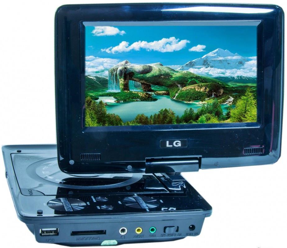 Переносной портативный DVD плеер DA-777  с TV тюнером TFT 7,2
