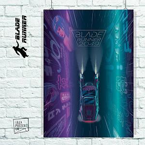 """Плакат """"Бегущий по лезвию, Blade Runner 2049, вариант №4"""". Размер 60x42см (A2). Глянцевая бумага"""