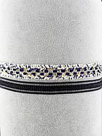 Чокер двойной сине-белый с черным 037349
