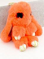 Меховой брелок Кролик оранжевый 190х100мм. 047800