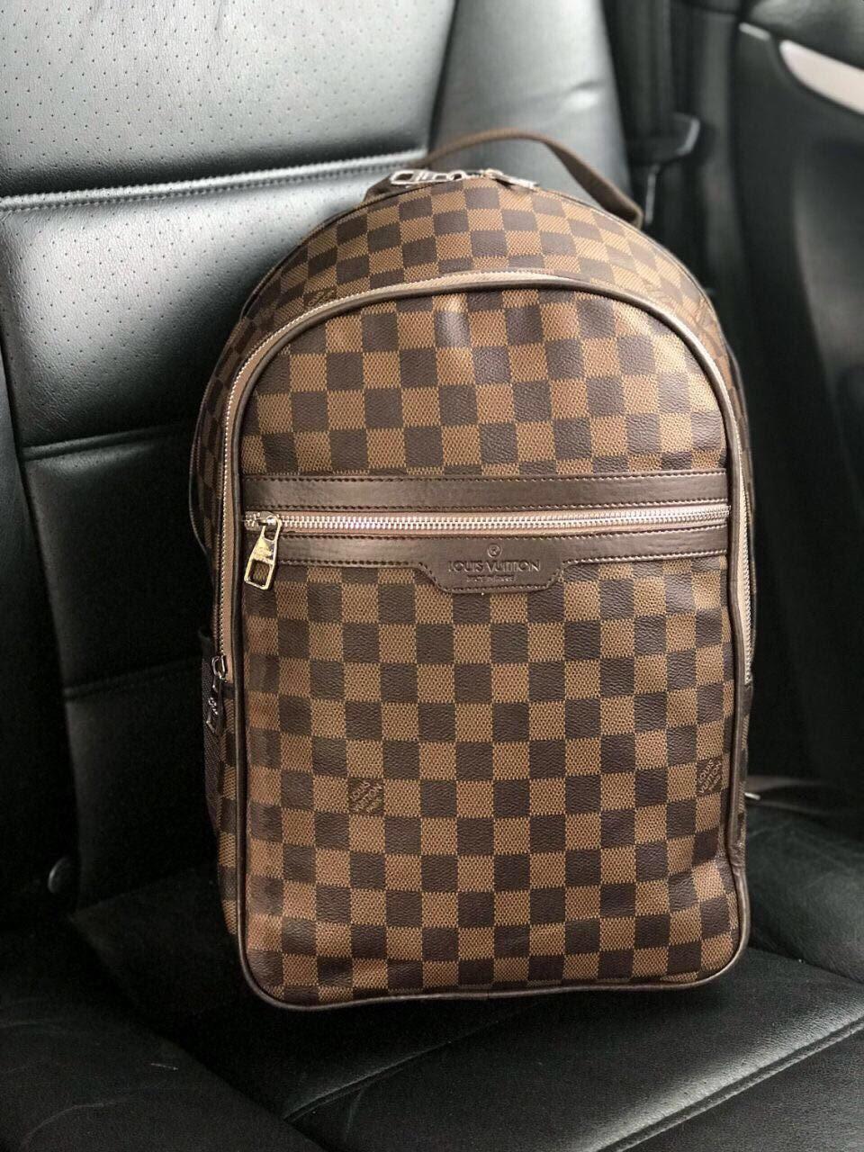 96355f141bb3 Рюкзак ранец портфель мужской коричневый женский Louis Vuitton копия реплика
