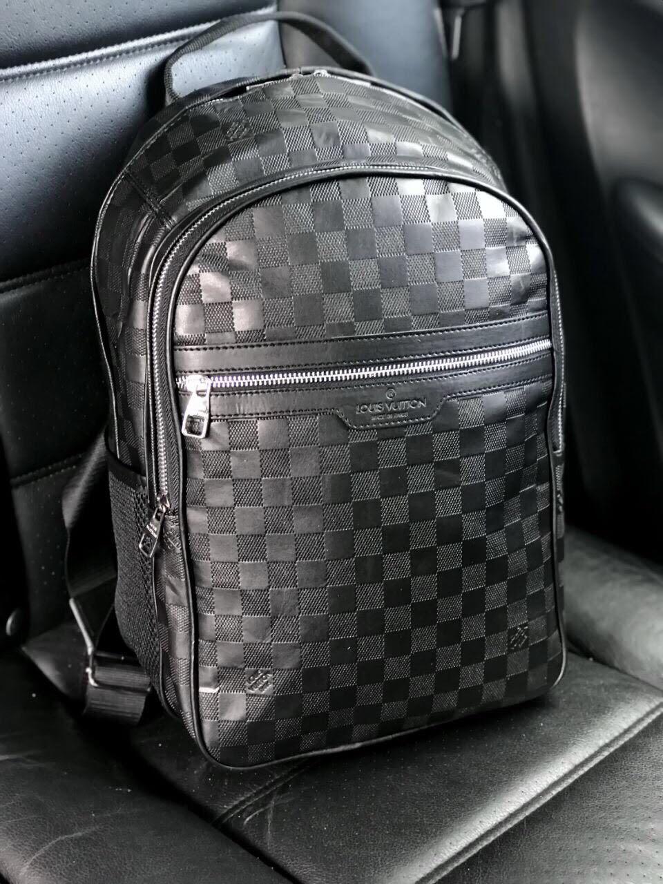 7c601e271d24 Рюкзак ранец портфель мужской черный женский Louis Vuitton копия реплика -  AMARKET - Интернет-магазин