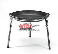 Крышка-сковородка чугунная 30см с треногой ЭКОЛИТ 3010КС-1, фото 1