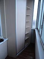 Угловой шкаф купе в лоджию,балкон