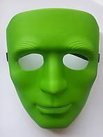 Маска театральная зеленая Лицо