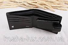 Тонкое классическое чёрное портмоне Braun Buffel B-658, натуральная кожа, фото 2
