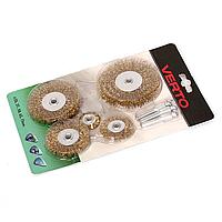 Щітки дротяні дискові Verto, 5 шт.