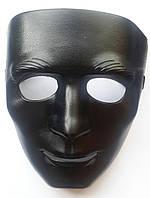 Маска театральная черная Лицо