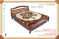 """Деревянная кровать """"Гармония""""  Мебель с натурального дерева."""