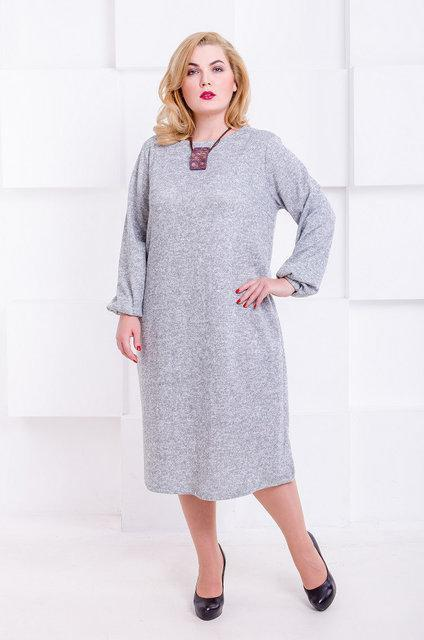Платье Манаго 52-66 серый