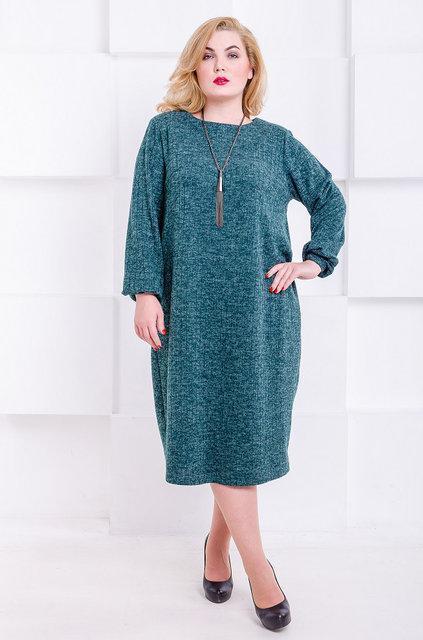 Платье Манаго 52-66 зеленый
