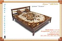 """Деревянная кровать """"Экстаза"""" Мебель с натурального дерева."""