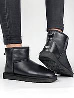 Угги женские UGG Australia Classic II mini black leather , фото 1