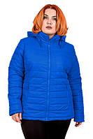 Куртка Дина 54-70 осень электрик