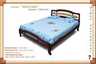 """Деревянная кровать """"Престиж"""" Мебель с натурального дерева."""