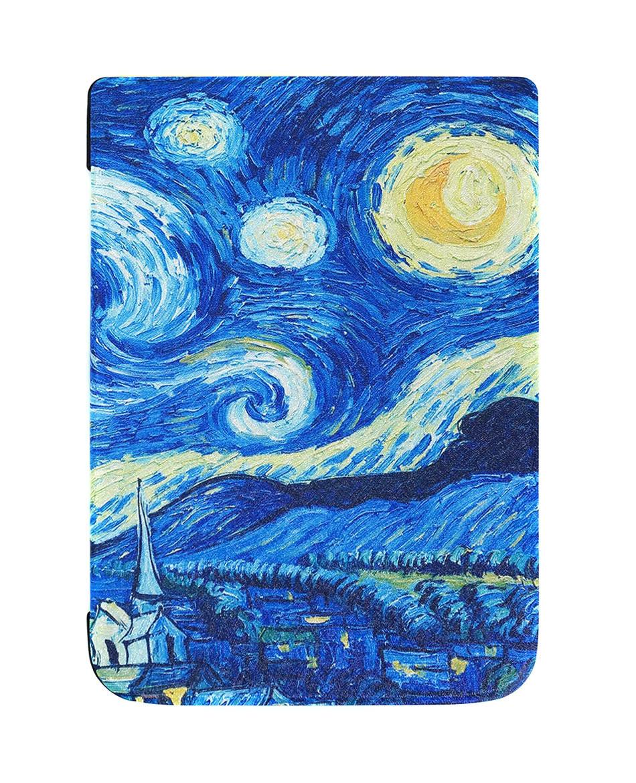 Обложка - чехол для электронной книги PocketBook InkPad 3 740 Звездное Небо, Ван Гог