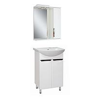 Комплект мебели для ванной комнаты АЛЬВЕУС 50 с умывальником Либра 50