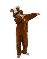 Детская теплая пижама- домашний костюм Мишка Код 0082