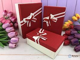 """Подарочная коробка """"Brightly"""" красная (3шт/уп)"""