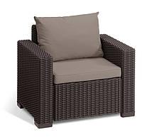 Комплект садовой мебели California 3 seater, коричневый, фото 3