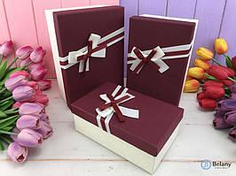 "Подарочная коробка ""Brightly"" марсала (3шт/уп)"