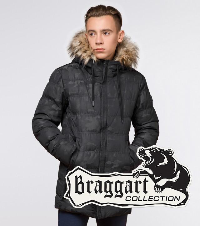 Подросток 13-17 лет |  Куртка зимняя Braggart Teenager 25030 черная