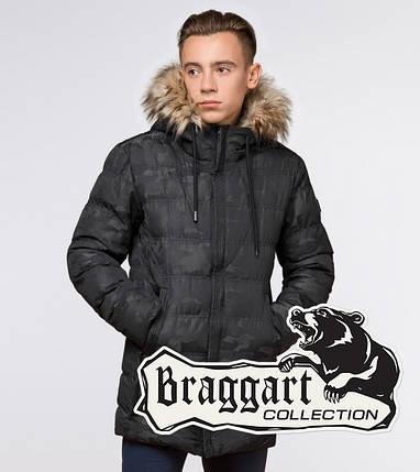 Подросток 13-17 лет |  Куртка зимняя Braggart Teenager 25030 черная, фото 2