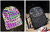 Оригинал Женский рюкзак Bao Bao с крутым геометрическим узором, светоотражающий, фото 3