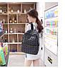 Оригинал Женский рюкзак Bao Bao с крутым геометрическим узором, светоотражающий, фото 6